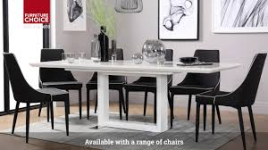 100 White Gloss Extending Dining Table And Chairs Tokyo High By Furniture Choice