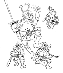 Coloriage à Imprimer Tortue Ninja Coquet Masque Super Hero A