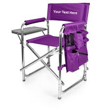 Algoma Butterfly Chair Replacement Covers by Embroidered Personalized Table Height Directors Chair With Side Table