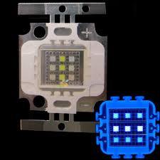 10w square 3x cool white 10000k 6x royal blue 450nm 455nm high