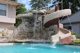 Custom Waterfall And Slide - Quantus Pools Quantuspools.com 847 ... Bedroom Pleasing Awesome Backyard Pool Slide Gopro Hero Best Designs Pics With Extraordinary Small Pools The Famifriendly Slide Becomes An Adventure As It Wraps Around Backyards Chic Design Ipirations Swimming Waterslides Walmartcom Appealing Water Slides Features Omni Builders Interior With Rock Pinterest Rock And Hot Tub And Vinyl Liner Diving Board 50 Ideas