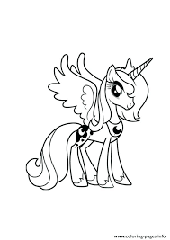 Princess Pony Coloring Pages A My Little