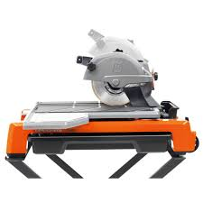 husqvarna ts60 10 wet tile saw includes stand and blade by