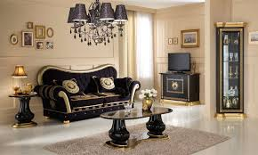 artiwohnzimmer athena schwarz gold arti