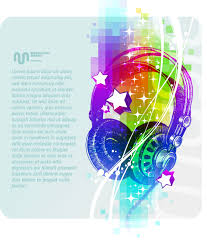 Beautiful Background Music Poster Vector Free