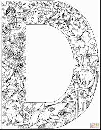 Astounding Letter Coloring Pages Adult With D And Sheets