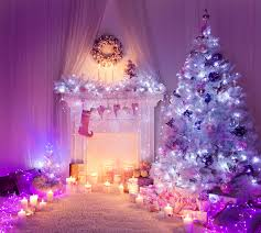 s New year New Year tree Fireplace Candles Fairy lights