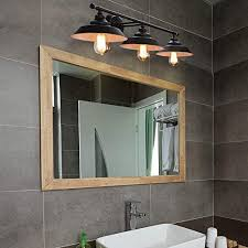 wandle vintage industrial bad spiegelle wandhalterung 3 flammig e27 led spiegelleuchte schwarz bad wandleuchten aus metall wandleuchte innen