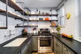 Vintage Galley Industrial Kitchen