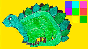 Dinosaur Coloring Pages For Kids Colorful Hero