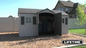 lifetime 6446 15 x 8 garden shed epic shed reviews youtube