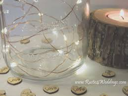 Rustic Wedding Decorations Mason Jars Elegant Fairy Lights Battery Operated String