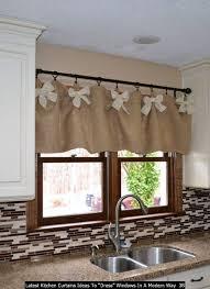Kitchen Drapery Ideas 40 Kitchen Curtains Ideas To Dress Windows In A