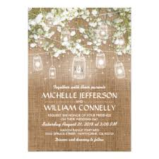 Baby39s Breath Rustic Burlap Wedding Card