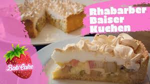 rhabarber baiser kuchen saftig säuerlich süß die perfekte mischung babcake