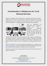 100 Ford Truck Parts Online Wreckers In Melbourne For Truck Removal Services