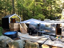 100 Restored Airstream Trailers Glamping At WOODS On Pender Island BC NUVO