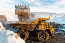100 Mining Truck Large Quarry Dump Loading The Rock In Dumper Loading Stock