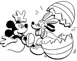 Mickey Mouse Coloring Pages Easter Depetta 2017
