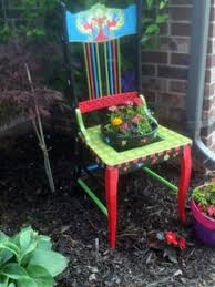 Garden Chair Planter Garden Art Funky Painted Furniture OOAK Whimsical  Garden Furniture Painted Garden Furniture Made To Order 65 Best Front Yard And Backyard Landscaping Ideas Designs Lets Do Whimsical Outdoor Ding Making It Lovely A Romantic Garden Wedding Every Last Detail Stevenson Manor Upholstered Side Chair With Turned Legs By Standard Fniture At Household Club Pair Vintage Rebar Custom Painted Vegetable Back Bistro Chairs 25 Patio To Buy Right Now Carate Batik Lagoon Rounded Corners Cushion Blue 6 Montage Antiques Display Of Counter Stool Jugglingelephants