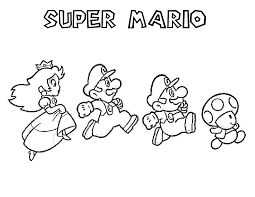 Super Mario Brothers Coloring Pages Page Printable To Download