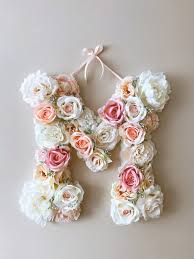 Boho Chic Wedding Decor Floral Letter 14 18 24 Flower Letters Vintage Inspired Bridal Shower Decorations Deco