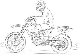Click To See Printable Version Of Dirt Bike Coloring Page