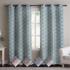 108 Inch Navy Blackout Curtains by Bella Blackout Paisley Curtain Panels With Grommets Set Of 2