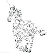 Detailed Unicorn Coloring Pages Unicorns Fairy And Image Detail For Adults