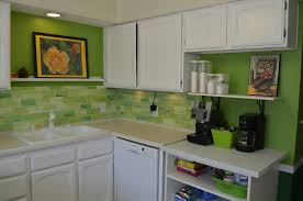 decor kitchen backsplash glass tile green light green glass subway