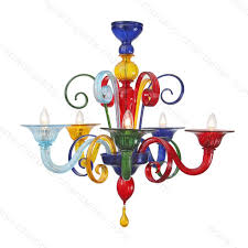Multicolor Colored Murano Modern Chandelier