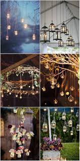 Woodland Inspired Brooklyn Wedding Hanging Lights