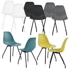 2x design stühle esszimmer weiß stuhl plastik kunststoff