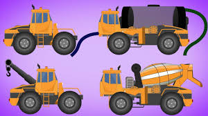 99 Youtube Truck Transformer Water Tank Cement Mixer Tow Video For Kids