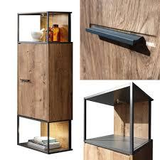 lomadox hängeschrank minneapolis 55 moderne industrial stand hängevitrine in haveleiche cognac mit matera anthrazit inkl led beleuchtung b h t