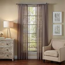 Bed Bath And Beyond Sheer Window Curtains by Buy Grey Sheer Curtains From Bed Bath U0026 Beyond