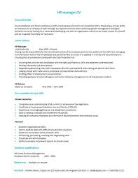 A HR Manager CV Template With Simple But Eye Catching Design