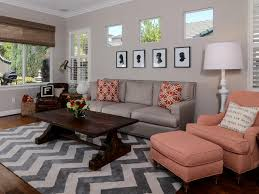 Transitional Living Room Sofa by Coral Color Palette Coral Color Schemes Coral Accents Grey