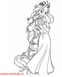 Rapunzel And Flynn Coloring Page Printable
