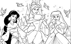 Princess Coloring Pages Printable Free Funycoloring