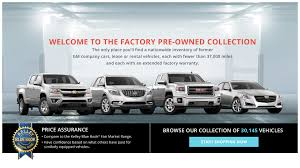 100 Used Gm Trucks GM Factory PreOwned Collection Website Takes Car