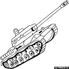JS IS Tank Coloring Page