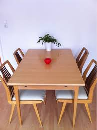 50er jahre esszimmer tisch 4 stühle