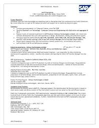 Sap Basis Resume Sample Format Best Images On For