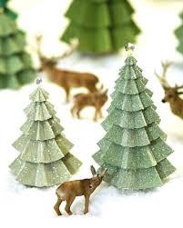 Martha Stewart Rotating Christmas Tree Paper Evergreens Tutorials Miniature Trees Pre Lit