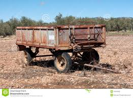 Old Farm Trailer Stock Image Of Agricultural Equipment