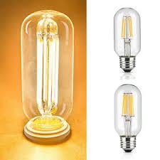 t45 4 6w edison style led filament tubular light bulb 2200 3000k