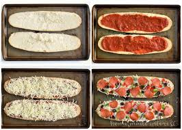 Make Your French Bread Pizza With All Of Favorite Toppings Then Cut It Into Strips