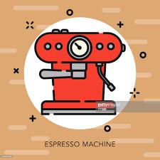 Espresso Machine Open Outline Coffee Tea Icon Vector Art