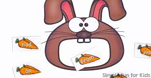 Feed The Bunny Sight Word Game Printable